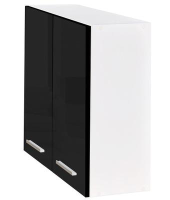 Шкаф кухонная 60 instagram ??????????  черный блеск НОВИНКА
