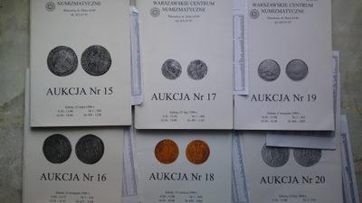 Katalogi Aukcyjne WCN 15,16,17,18,19,20+Listy wyni