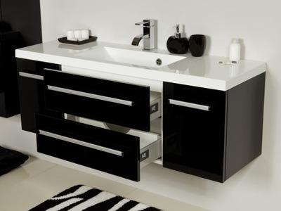 черная ШКАФ ??? ванной комнаты 120 см ? instagram FKS