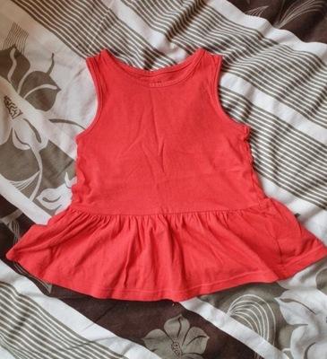 H&M sukienka czerwona serduszka roz. 122128