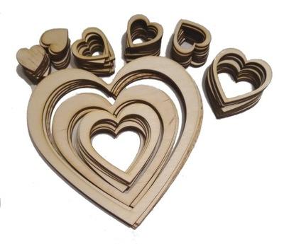 80 штук . сердца Кольца Фанера Кетчер Ноль ,17 gr/штук .