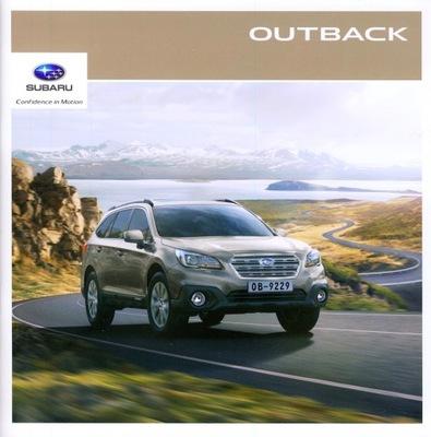 Subaru Outback prospekt 2016 Czechy
