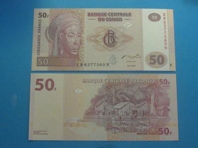 Конго Банкнота 50 Francs 2007 UNC P-97 Рыба