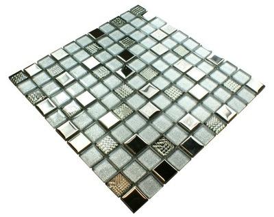 Мозаика стеклянная, серебряная, instagram SILVER Diamond