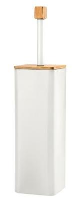 щетка туалет металлический Бамбук туба современная белая