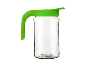 Dzbanek szklany do wody soków z pokrywką 1,5 L