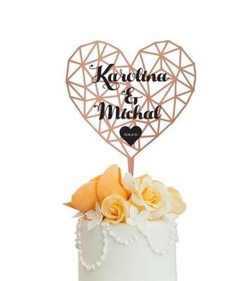 Toper na ślub Figurka na tort topper dekoracja