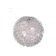 Абажур G4 ??? ?????????? прозрачный + оплетка алюминий
