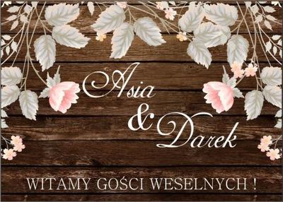 TABLICA powitalna na ślub rustykalna wesele 70x50