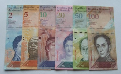 ZESTAW BANKNOTÓW WENEZUELA - Z PACZKI BANKOWEJ