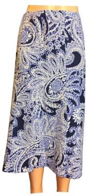 Damska spódnica lniana 52% ze wzorkiem M&S 44