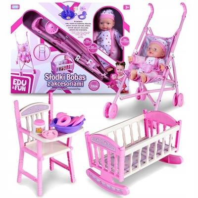 BÁBIKU BABY KOČÍK POSTIEĽKY detská STOLIČKA NASTAVIŤ 4w1
