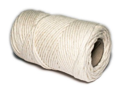 70м шнурок Белый мясной хлопковый шпагат