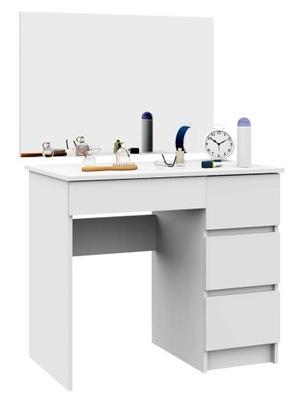 ТУАЛЕТНЫЙ столик с зеркалом 900x600 T-6 /SL правая 90 белая