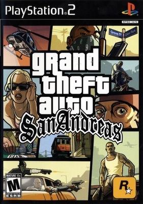 Grand Theft Auto San Andreas GTA SA Nowa Folia PS2