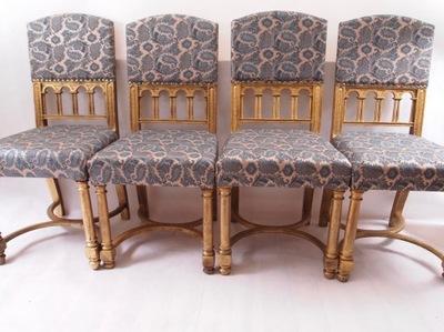 Четыре театральные стулья отремонтированы XIX в 100x44cm
