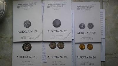 Katalogi Aukcyjne WCN 21,22,23,28,29,30+Listy wyni
