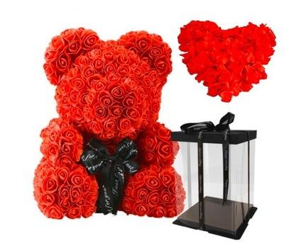 МИШКА РОЗОВЫЙ 40 см! подарок ROSE BEAR красный