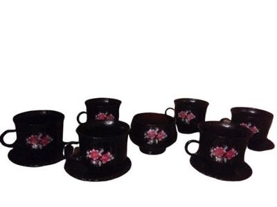 комплект komplet6 чашек сахарница подарок цветок