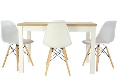 скандинавский Кухня стол 70x120 /160 и 4 стулья