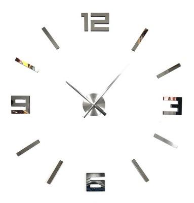 часы серебро холсты ЗЕРКАЛО DIY современный