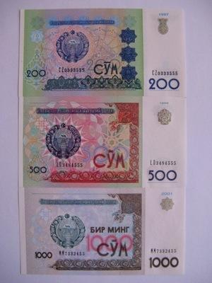 Узбекистан - 200 -1000 Сом - 1997-2001-80-82-  .1