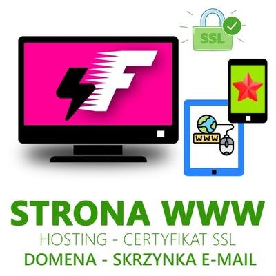 Strona www - domena - hosting - pozycjonowanie