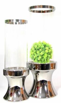 Svietnik/svietidla zelené sklo 39 cm
