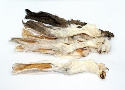 УШИ кроличьи уши с мехом натуральный прорезыватель 500?