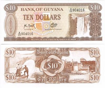 Гайана 10 $ P-23 UNC
