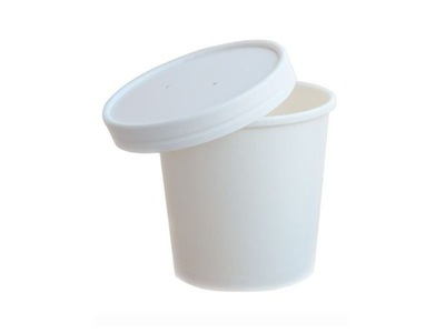 Емкость Белый + крышка 470ml для супа горячего 25