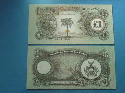 Biafra Банкноты 1 Pound 1968 / 69 UNC P - 5a