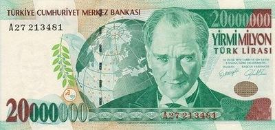 Турция 20000000 Турецкая ??? тысячи P-215 UNC