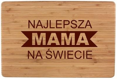 DREWNIANA DESKA KROJENIA GRAWER DZIEŃ MATKI MAMY