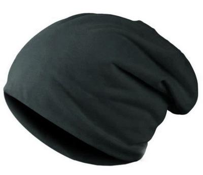 Czapka damska czarna OVERSIZE smerfetka beanie