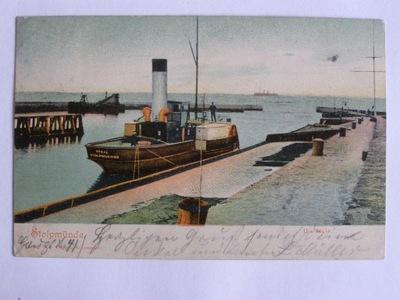 Ustka Stolpmuende Słupsk parowiec 1905