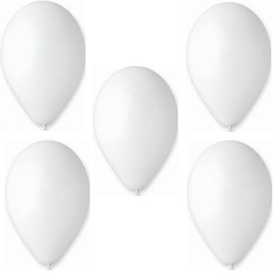 Воздушные шары Пастель Gemar G90 белое -10 штук