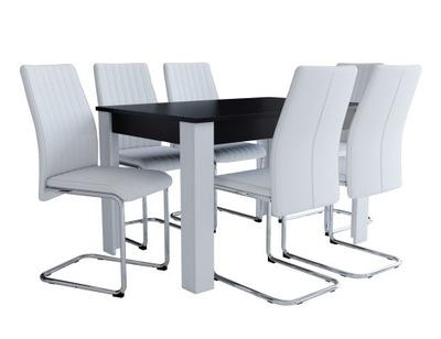 6 белых стульев и маленький стол ?????????? ??? гостиную