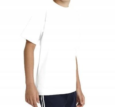 Koszulka na wf T-shirt gimnastyczna bawełna 170