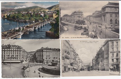 Старые открытки ТРАМВАЙ Instagram (4 штук .) 4T43