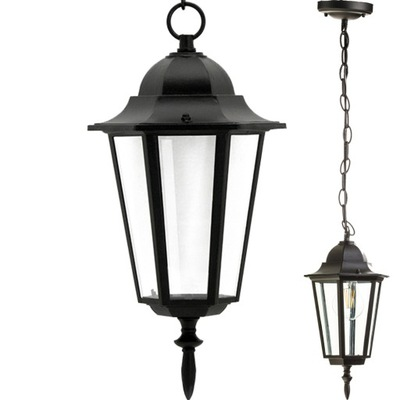 LAMPA WISZĄCA ZEWNĘTRZNA DO LED LAMPA OGRODOWA E27