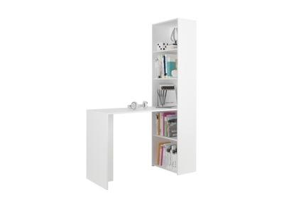 Мебель письменный Стол, журнальный столик, стеллаж книги 125см белое B50S