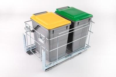Segregator na śmieci Kosz do szafki 40 cichy domyk