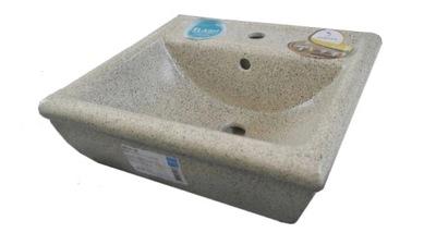 Umývadlo keramické Retro 55 cm béžová Hybner