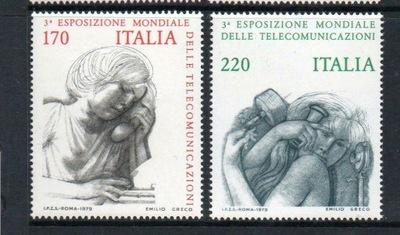 Италия 1979 Марки Мне 1668-9 ** телефон выставка