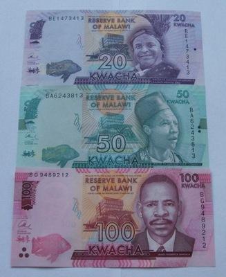 ZESTAW BANKNOTÓW MALAWI - Z PACZKI BANKOWEJ