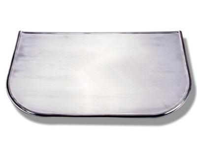 tin pred krbom-z nehrdzavejúcej ocele 100x60cm