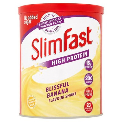 Slim Фаст Банан - Коктейль для Похудения 438g ВЕЛИКОБРИТАНИИ