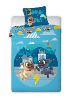posteľná Bielizeň pre deti, Bingo a Rolly mopsiaki 160x200