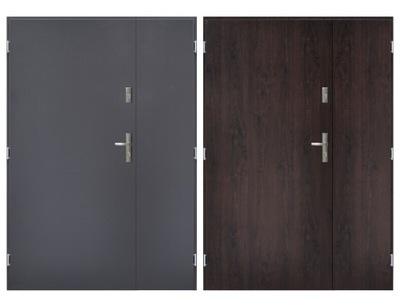 двери Внешние стальные двустворчатые  55
